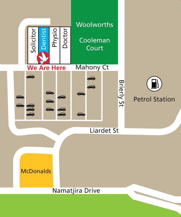 Weston Dental Map